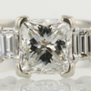 1.00 ct. Princess Cut 3 Stone Ring #1