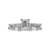 1.01 ct. Emerald Cut Bridal Set Ring, D, VVS2 #3