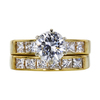 1.02 ct. Round Cut Bridal Set Ring, G, VVS1 #3