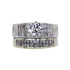 1.10 ct. Round Cut Bridal Set Ring, I-J, I2-I3 #3