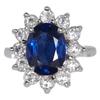 3.05 ct. Natural Blue Sapphire & Diamond Ring #1