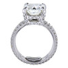 3.01 ct. Cushion Cut Solitaire Ring, J, VS2 #3