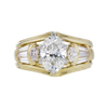 1.13 ct. Oval Cut Bridal Set Ring, H, SI1 #3