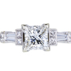 1.01 ct. Princess Cut Solitaire Ring, F, VS2 #3