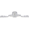 0.93 ct. Cushion Cut Bridal Set Ring, H-I, I1 #1