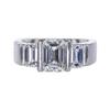 1.51 ct. Emerald Cut 3 Stone Ring, F, VS1 #3