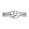 1.05 ct. Round Cut Bridal Set Ring, K, SI2 #3