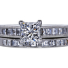 1.07 ct. Princess Cut Bridal Set Ring, E, VS1 #1