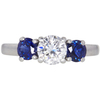 0.71 ct. Round Cut 3 Stone Ring, F, VS1 #3