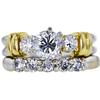 0.86 ct. Round Cut Bridal Set Ring, F-G, SI2-I1 #2