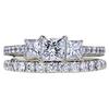 0.73 ct. Princess Cut Bridal Set Ring, G-H, SI1-SI2 #2