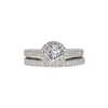 1.01 ct. Round Modified Brilliant Cut Bridal Set Ring, G, SI2 #3