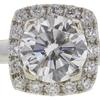 1.32 ct. Round Cut Bridal Set Ring, G, VS2 #4