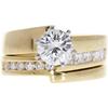 1.05 ct. Round Cut Bridal Set Ring, G, SI1 #2