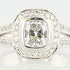1.01 ct. Cushion Cut Halo Ring #1