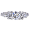 0.54 ct. Round Cut 3 Stone Ring, F-G, VS2-SI1 #2