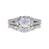 1.19 ct. Old European Cut Bridal Set Ring, E, VS2 #3