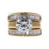 2.27 ct. Round Cut Bridal Set Ring, L, VS2 #3