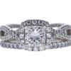 1.0 ct. Princess Cut Halo Ring, F, SI2 #3