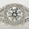 1.01 ct. Round Cut Bridal Set Ring #4