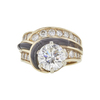 2.52 ct. Round Cut Central Cluster Ring, J, SI2 #3