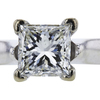 1.23 ct. Princess Cut Solitaire Ring, J, VS2 #4
