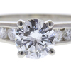 1.0 ct. Round Cut Bridal Set Ring, H, I1 #1