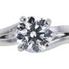 1.21 ct. Round Cut Bridal Set Other Ring, G, VS1 #4