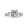 2.22 ct. Emerald Cut 3 Stone Ring, K, VS2 #3