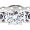 0.80 ct. Round Cut Bridal Set Ring, J, I1 #4