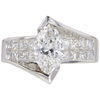 1.16 ct. Marquise Cut Bridal Set Ring, F, VS2 #3