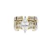 1.1 ct. Marquise Cut Bridal Set Ring, F, VS2 #3