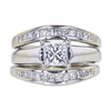 0.75 ct. Princess Cut Bridal Set Ring, I, SI1 #3