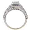 0.72 ct. Princess Cut Bridal Set Ring, E-F, SI1-SI2 #2