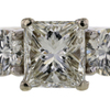 1.61 ct. Princess Cut 3 Stone Ring #4