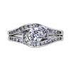 0.71 ct. Round Cut Bridal Set Ring, E, SI2 #3