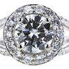 1.30 ct. Round Cut Halo Ring, K, SI1 #4