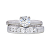 0.65 ct. Round Cut Bridal Set Other Ring, J, SI1 #3