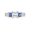 1.11 ct. Radiant Cut 3 Stone Ring, F, VS1 #3