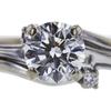 0.80 ct. Round Cut Bridal Set Ring, I, I1 #4