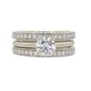 0.82 ct. Round Cut Bridal Set Ring, H, I1 #3