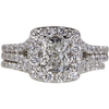 1.01 ct. Cushion Cut Bridal Set Ring, E, VVS2 #3