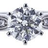 1.50 ct. Round Cut Bridal Set Ring, H, I1 #4