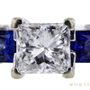 1.51 ct. Princess Cut 3 Stone Ring, F, VS2 #4