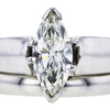 1.50 ct. Marquise Cut Bridal Set Ring, J, SI2 #4