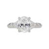 2.11 ct. Oval Cut 3 Stone Ring, G, SI1 #4