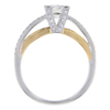 0.72 ct. Round Modified Brilliant Cut Solitaire Ring, H, SI1 #3