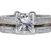 1.06 ct. Princess Cut Bridal Set Ring #3