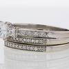 0.96 ct. Princess Cut Bridal Set Ring #2