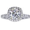 1.33 ct. Round Cut Halo Ring, J, I1 #3
